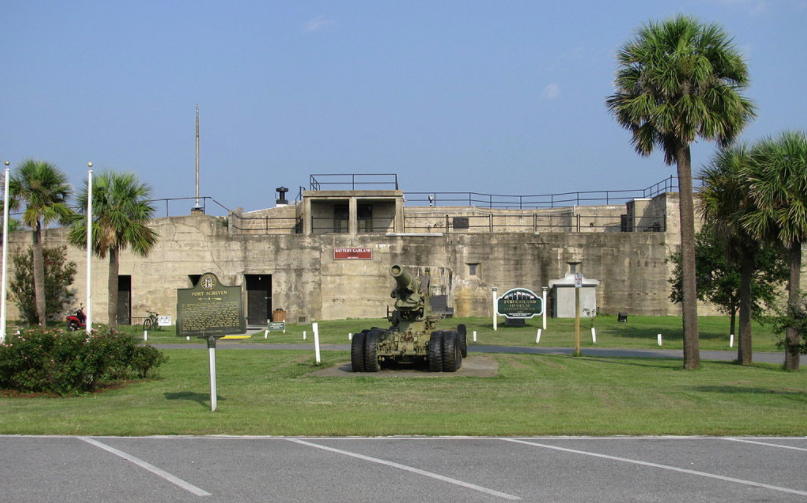 Fort Screven and Tybee Island history museum at Battery Garland