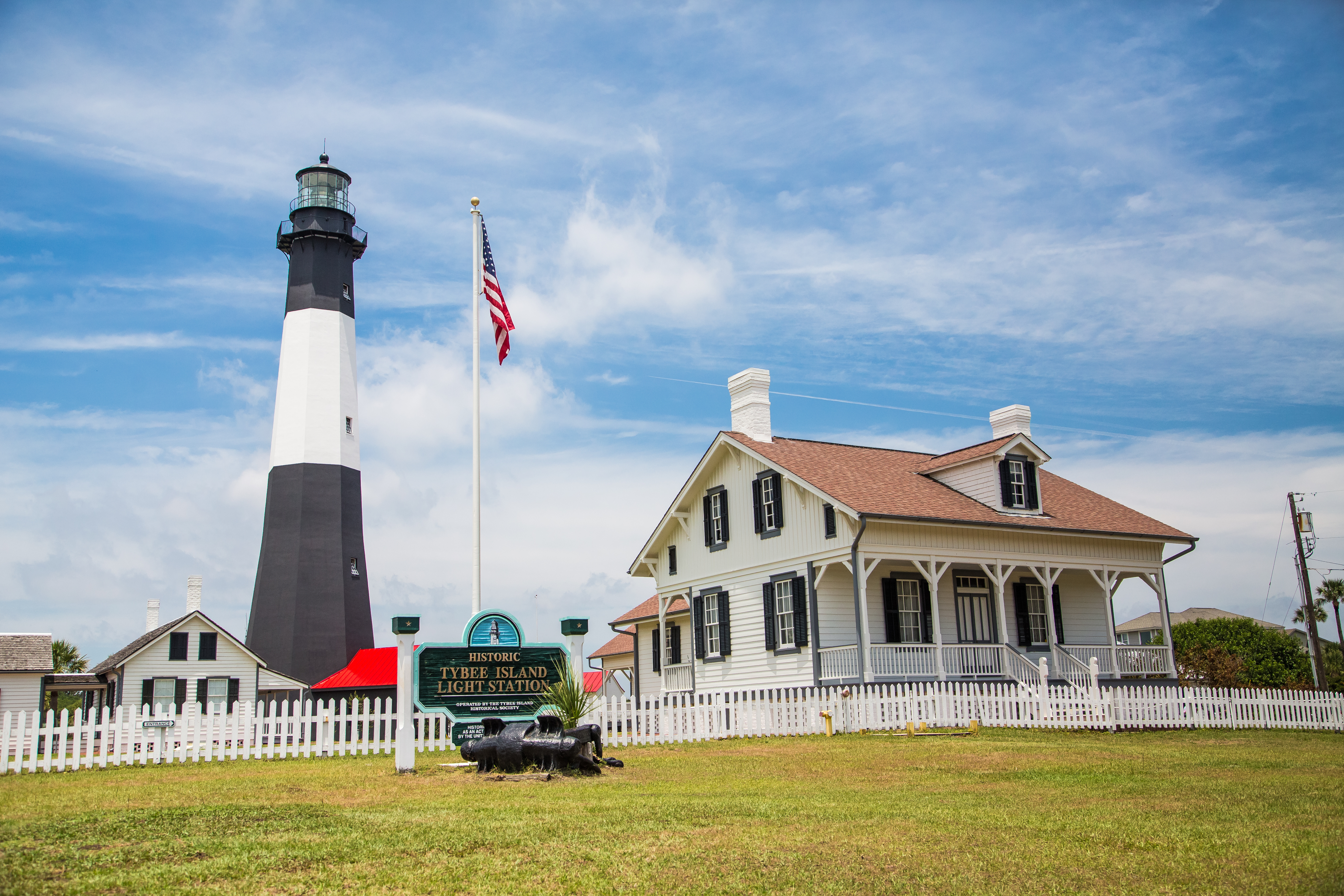 Tybee Island light station and historic landmarks